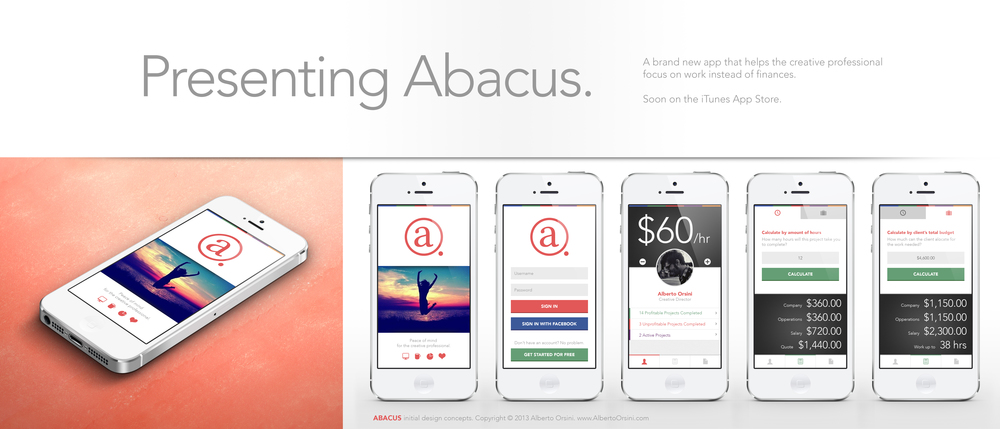 Abacus is a simple tool to calculate freelance work costs
