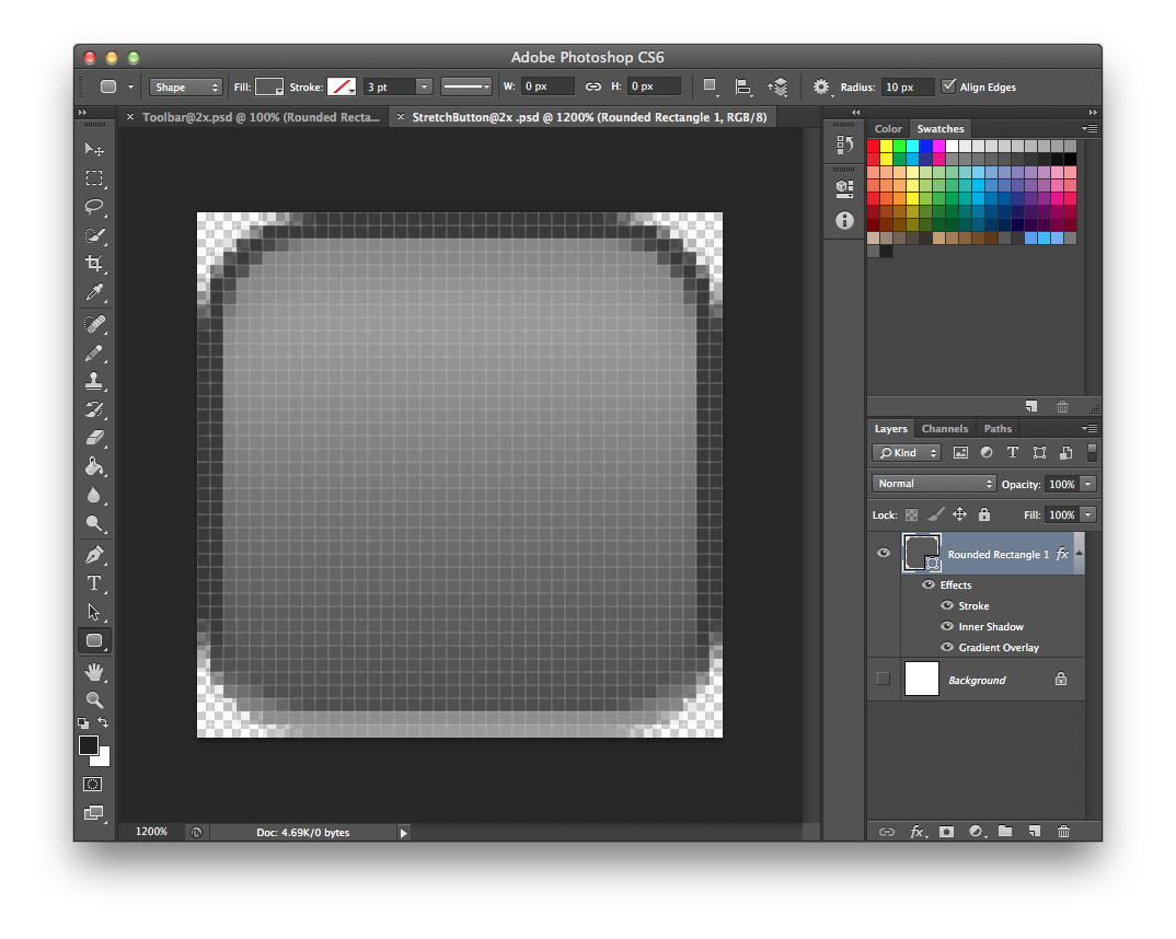 Designing a stretchable image in PhotoShop CS6 for iPhone