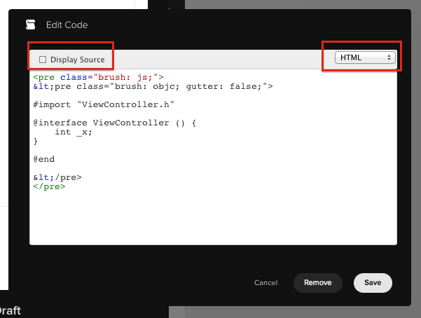 "Disable the ""Display Source"" and make sure you are on HTML code. All < characters should be replaced with <"
