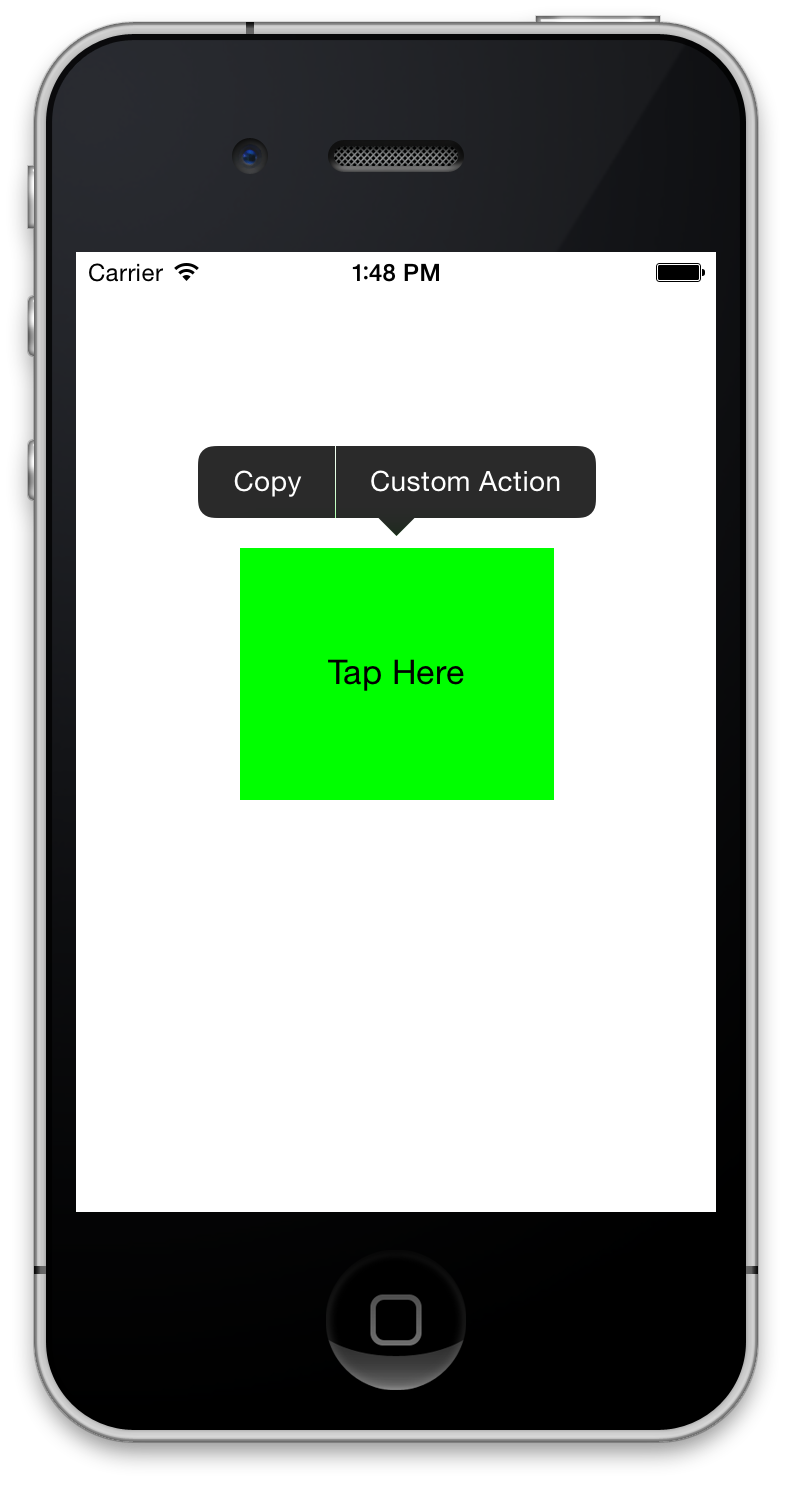 Menu Popup for Copy and Paste using UIMenuController