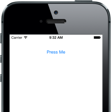 Change the center position to move the button around your iPhone app.
