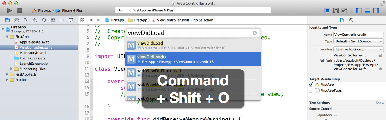 14 Xcode Keyboard Shortcuts - To Make You More a Productive