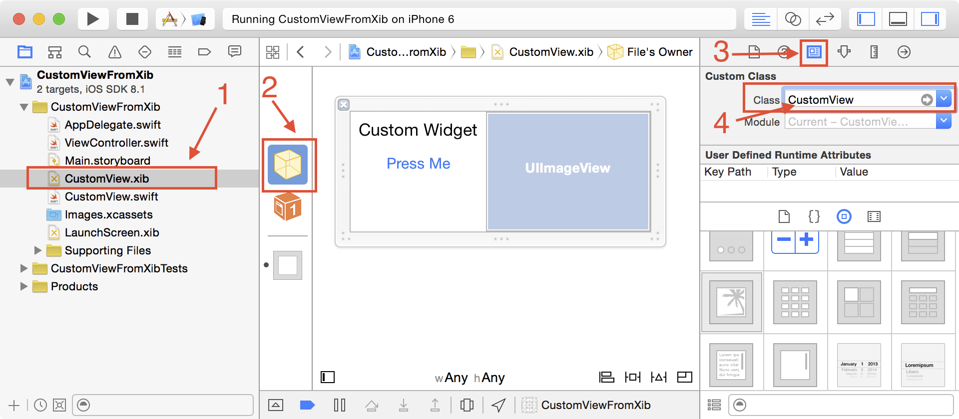 Create an IBDesignable UIView subclass with code from an XIB file in