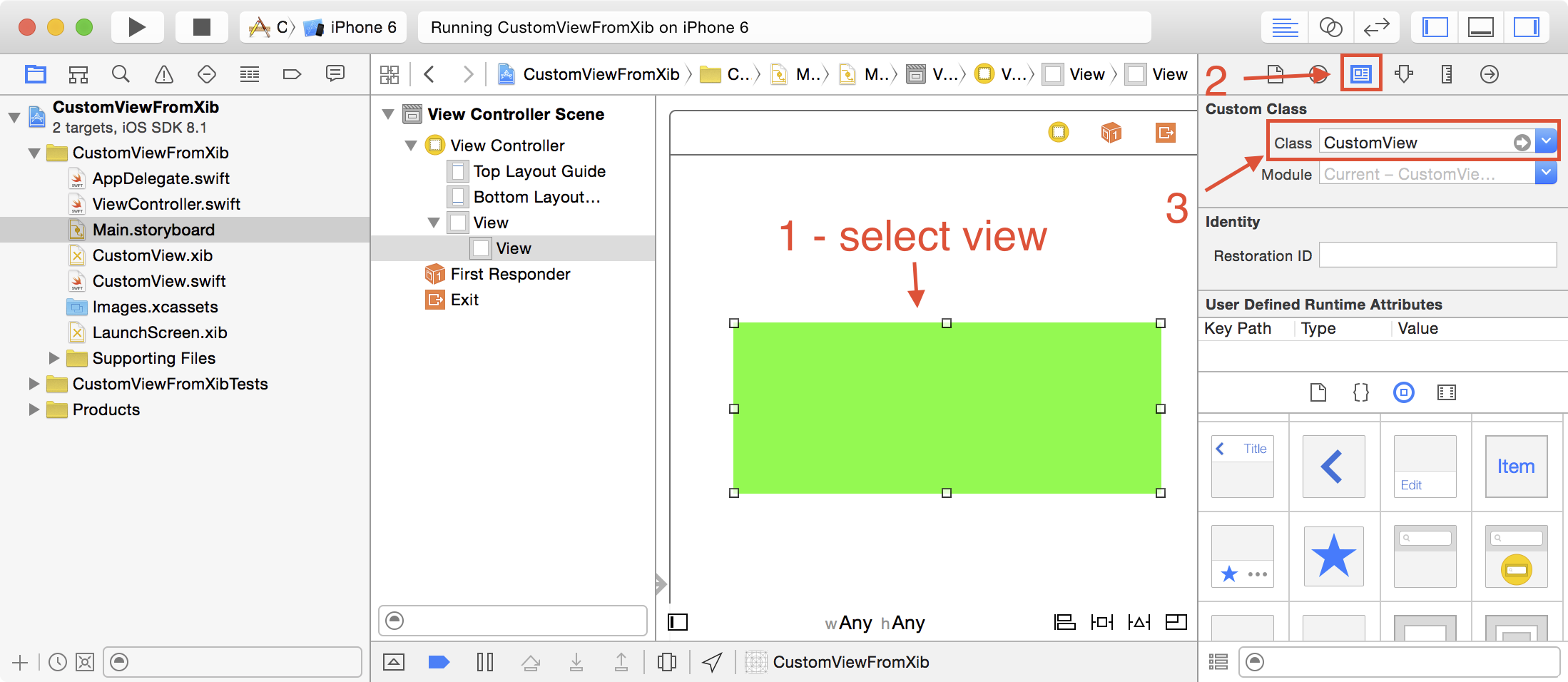 Create an IBDesignable UIView subclass with code from an XIB