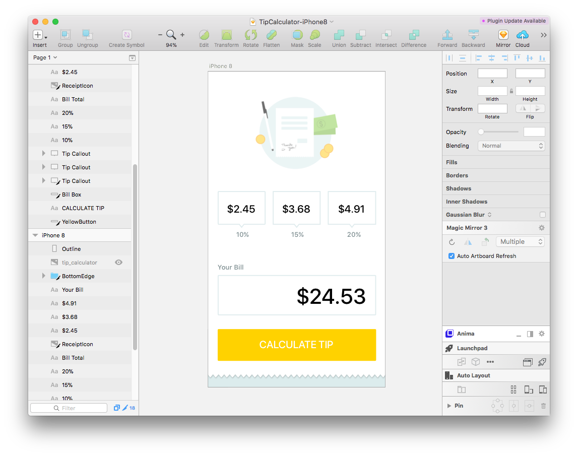 Sketch Design Files - Download the Sketch vector design files and image resources to stylize your app.