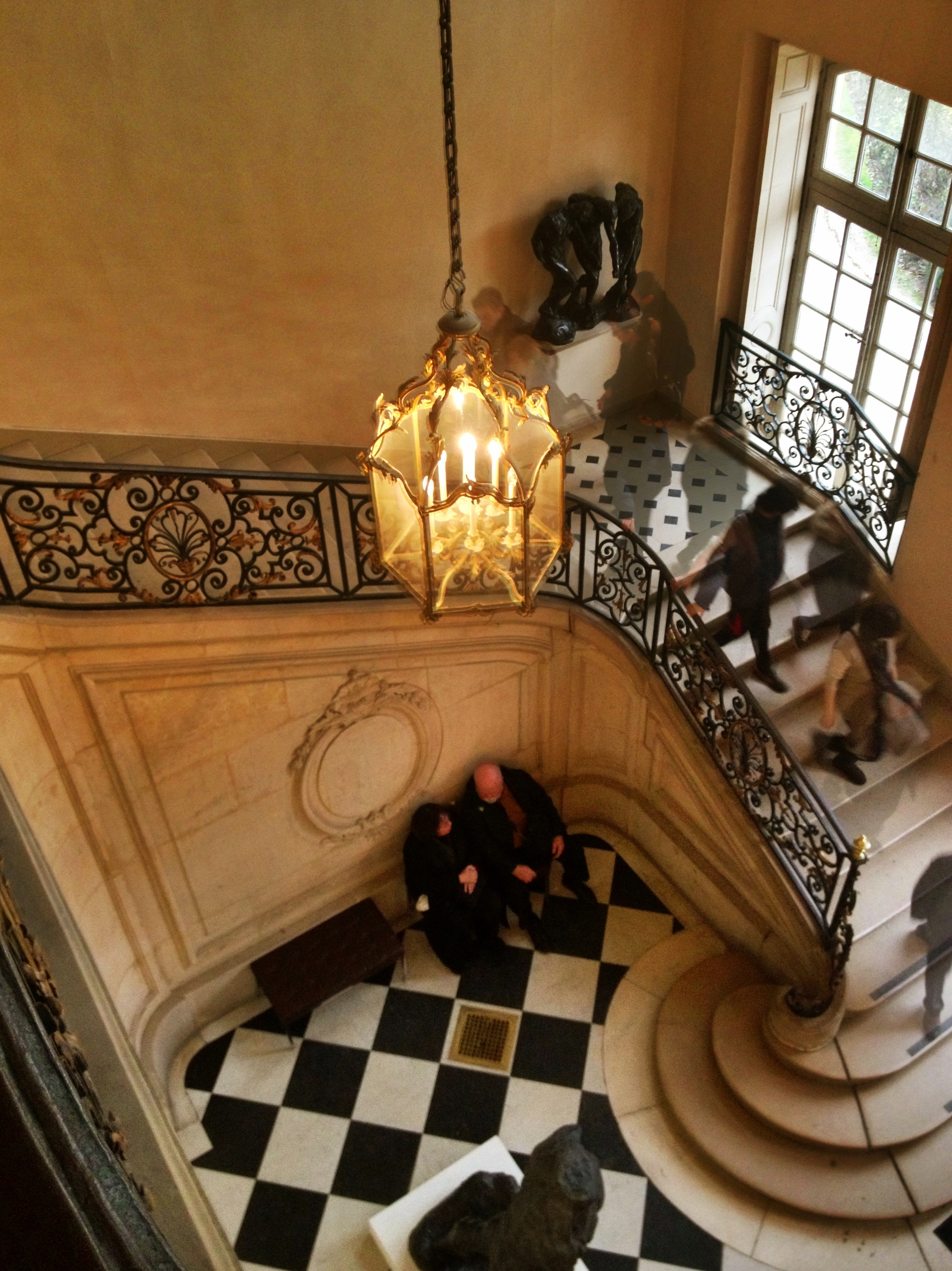 Musee Rodin, Staircase: Couple sitting as time passes