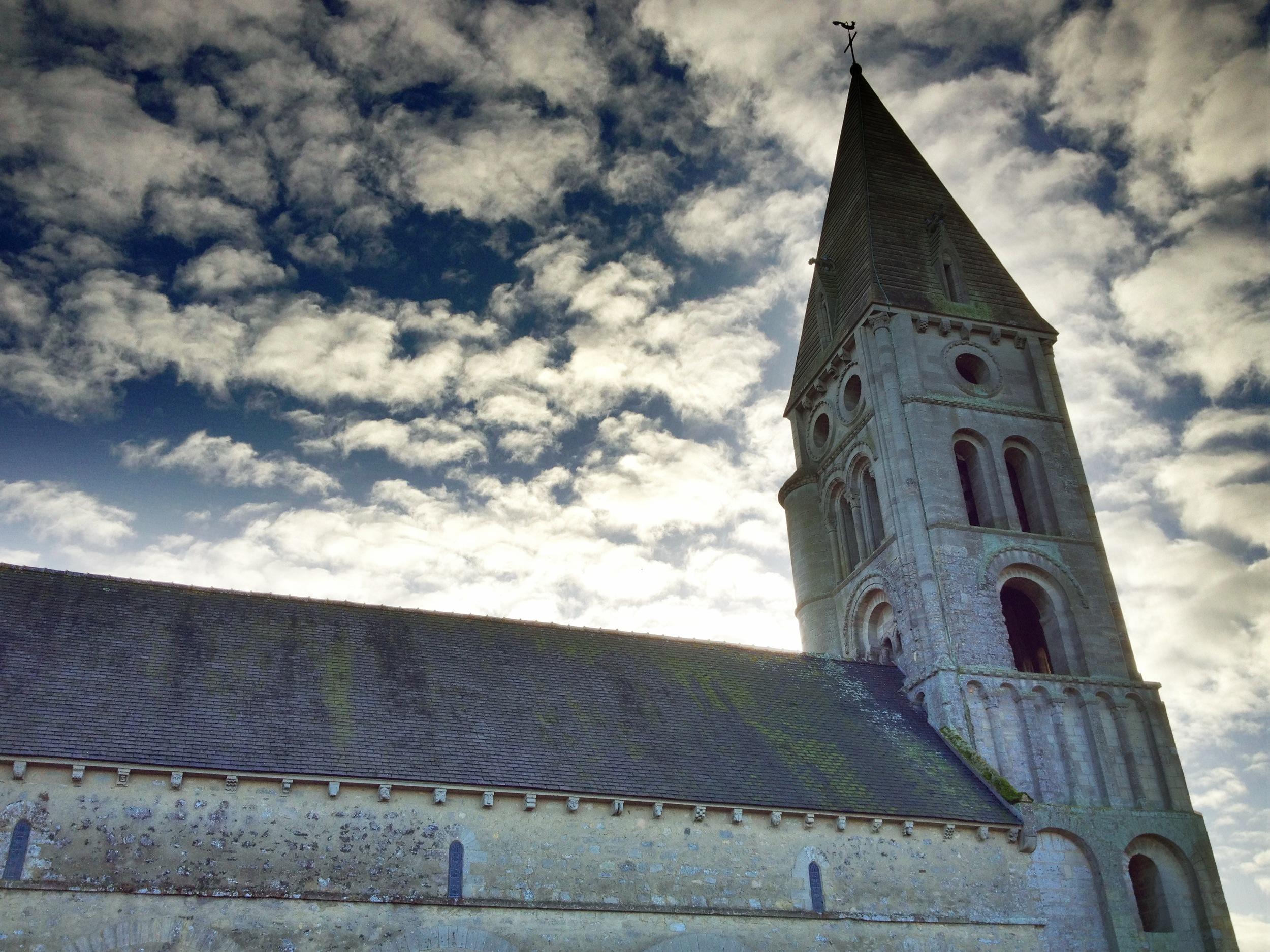 Colleville-sue Mer church
