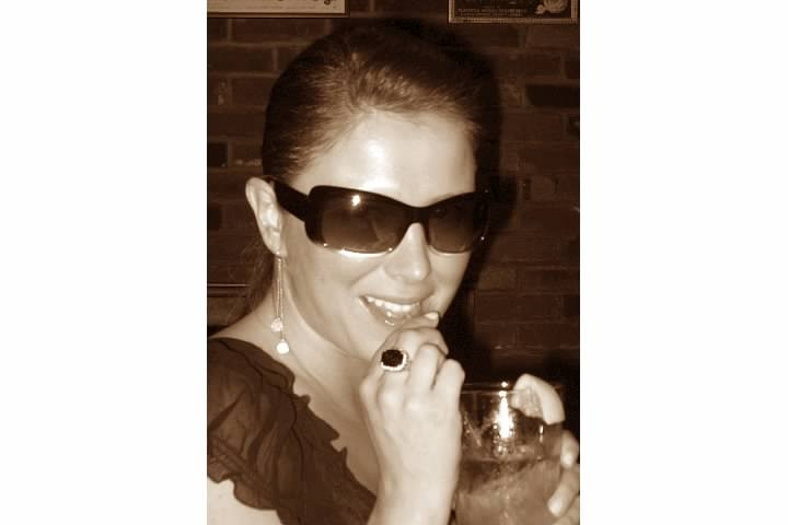 Me, circa 2006. Drink in hand.