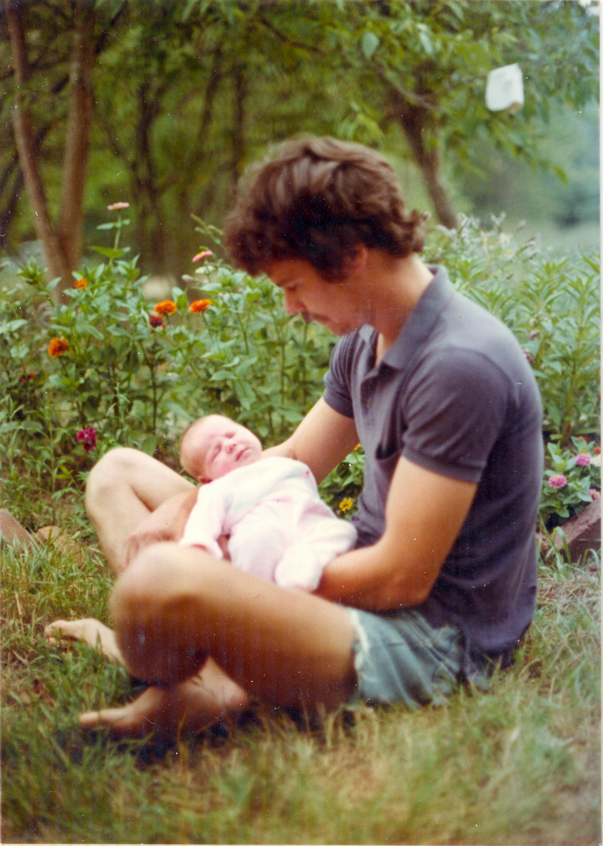 My father and I, circa my birth Day, 1977.