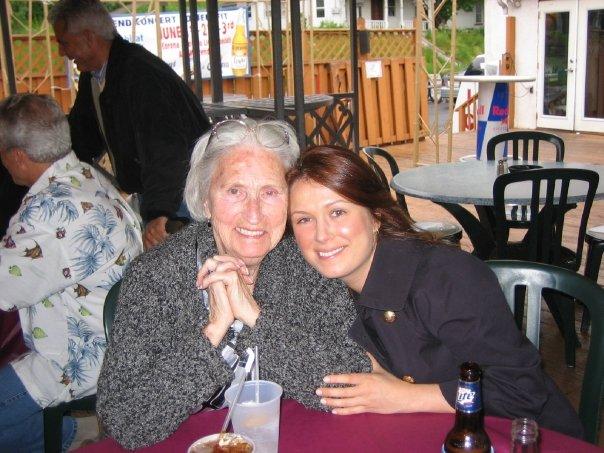 My Nana and I, many years ago at my cousins graduation