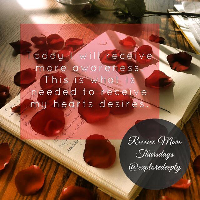 receiving thursday explore deeply awareness love