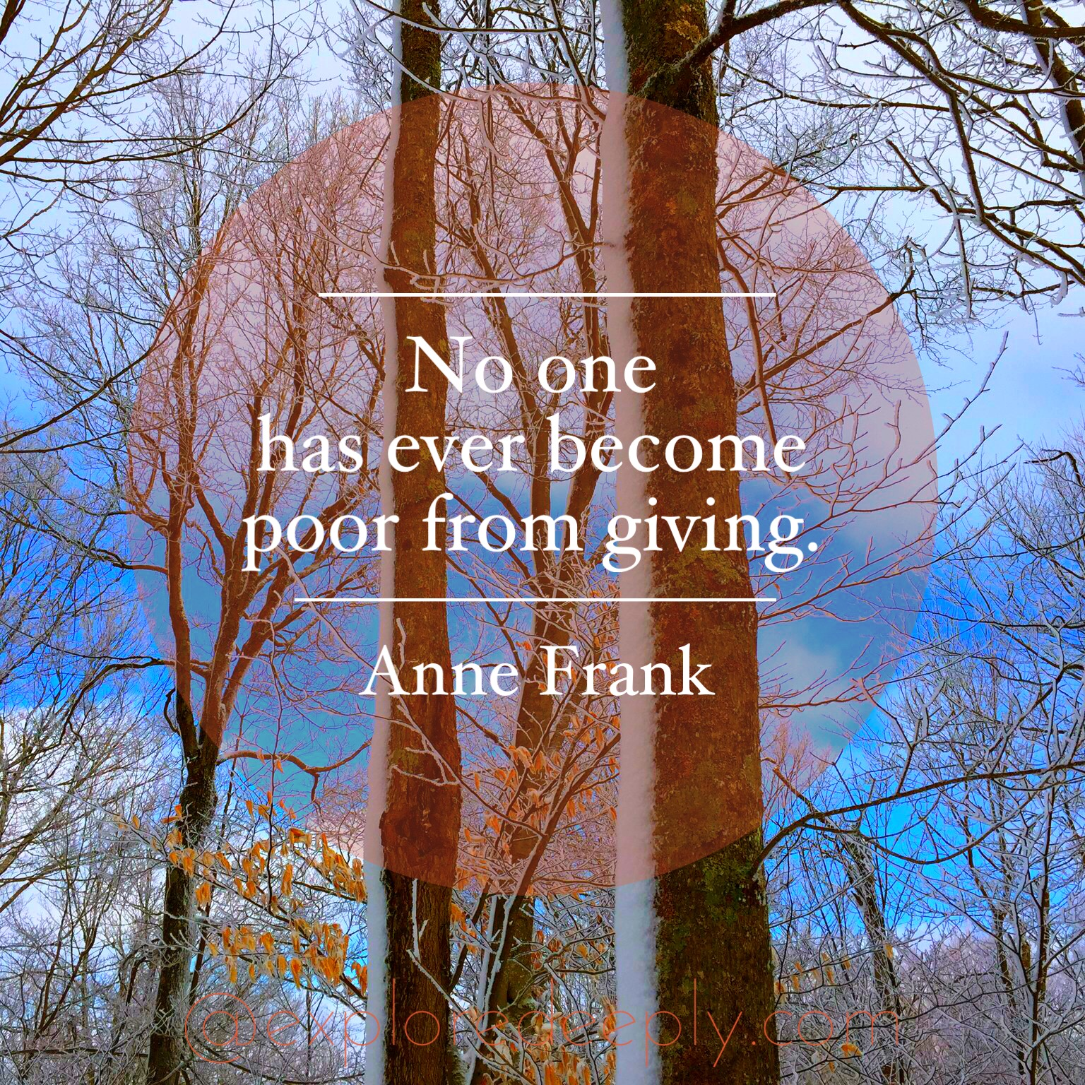 no one has ever become poor from giving