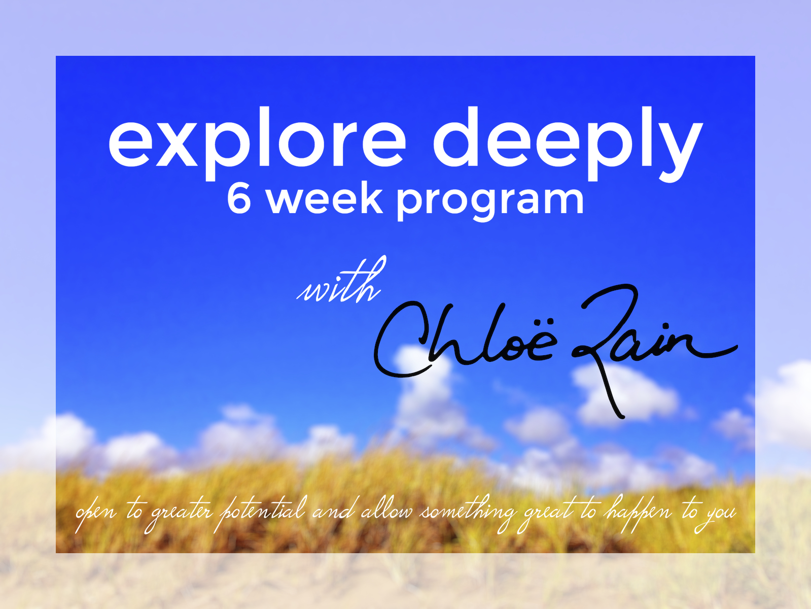 expect a miracle explore deeply program 6 weeks to happiness