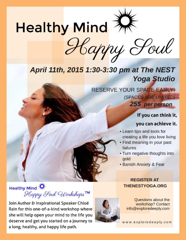 healthy mind happy soul workshop april 2015
