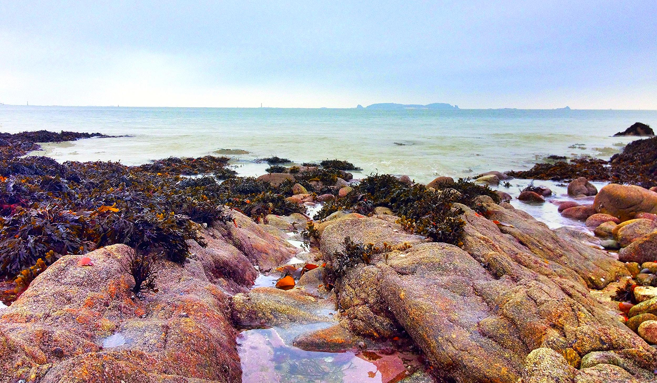 Sea view from Saint Malo Beach