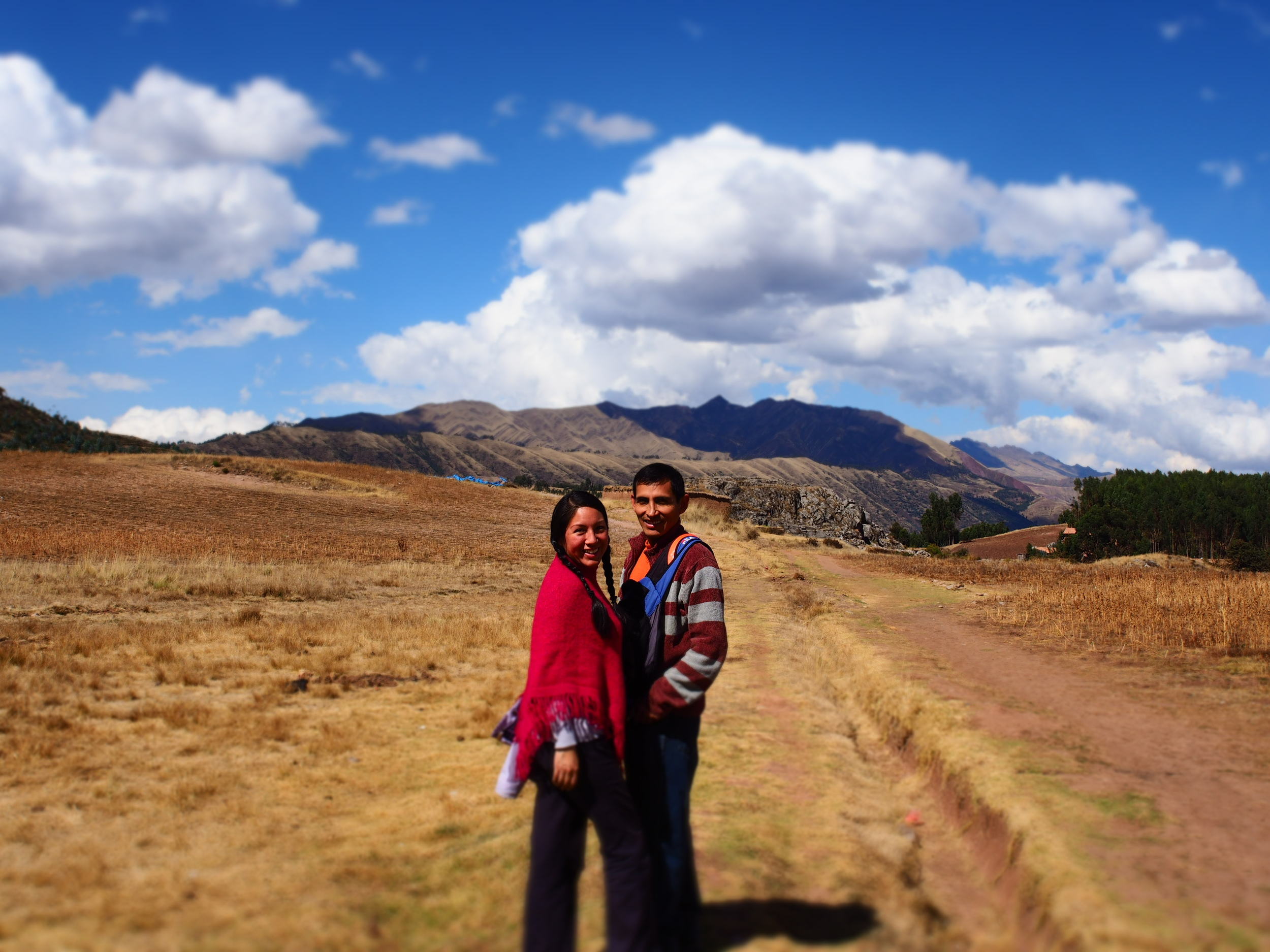 Q'orianka and her husband Peter, both are initiates of the Inka Spiritual Lineage.