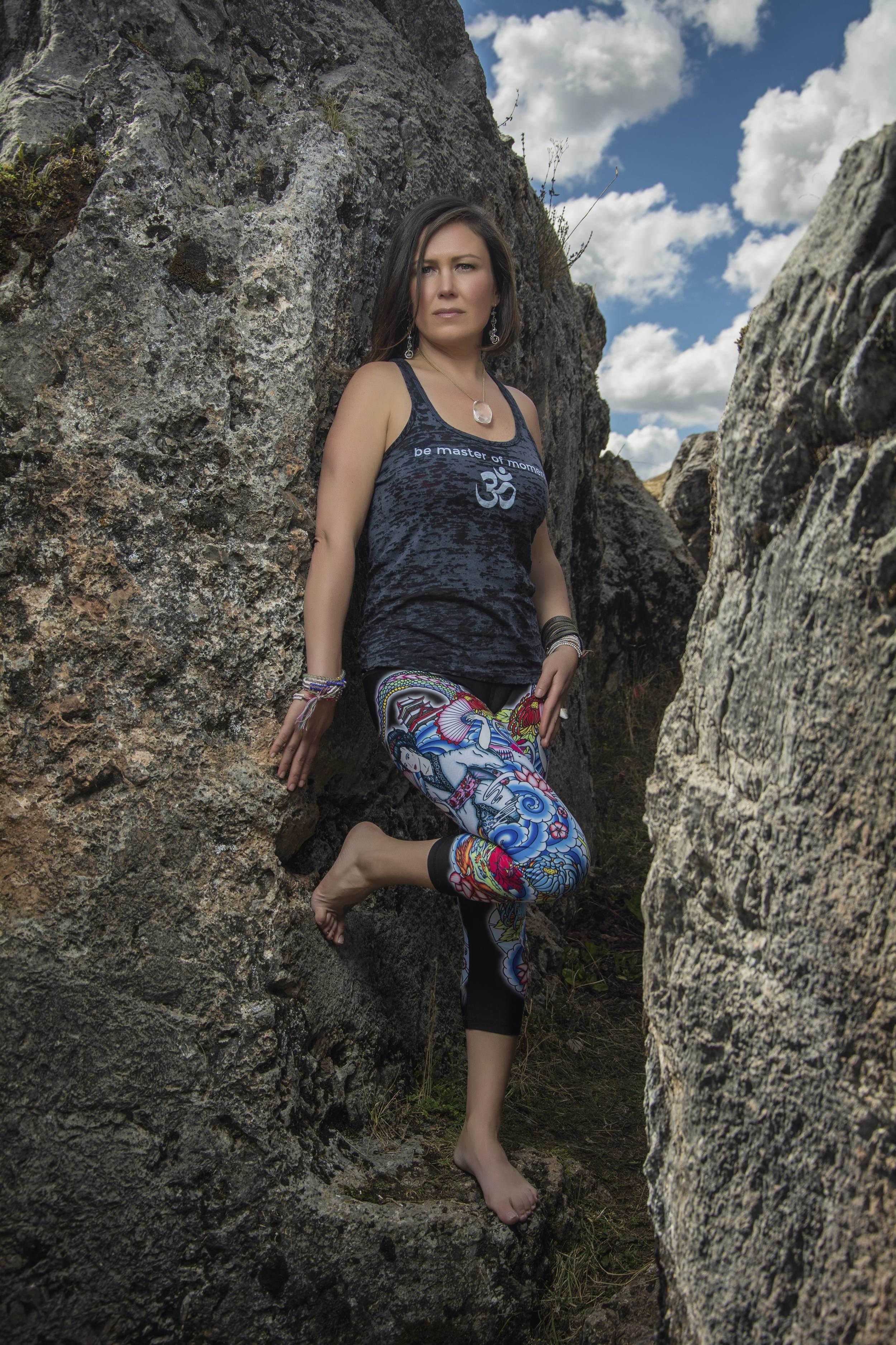 Yoga pants by  Luna Jai.