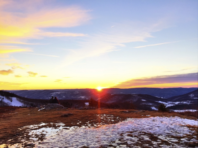 Sunday Sunset, January 31st, 2016 Top of Bald Knob, West Virginia