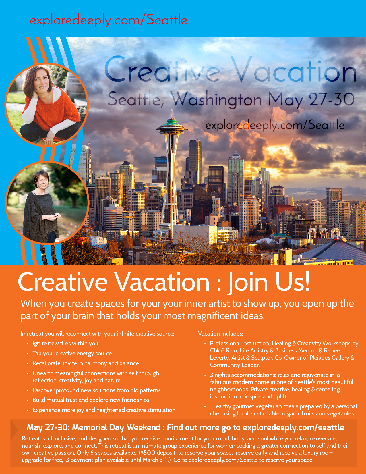 Creative Vacation REtreat Seattle Wa