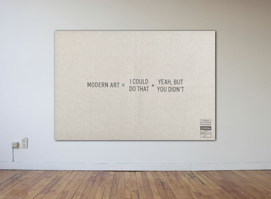 Modern Art :  The Myth of Creativity