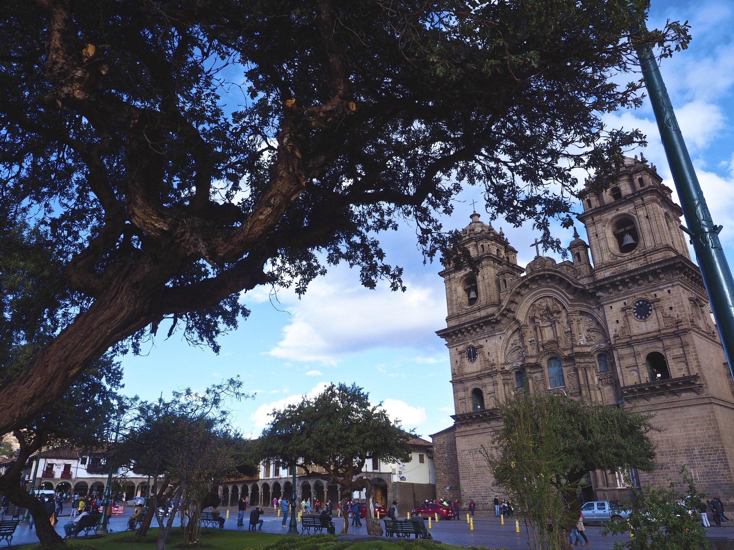 Plaza De Armas, the center of the Cuzco City, Peru.