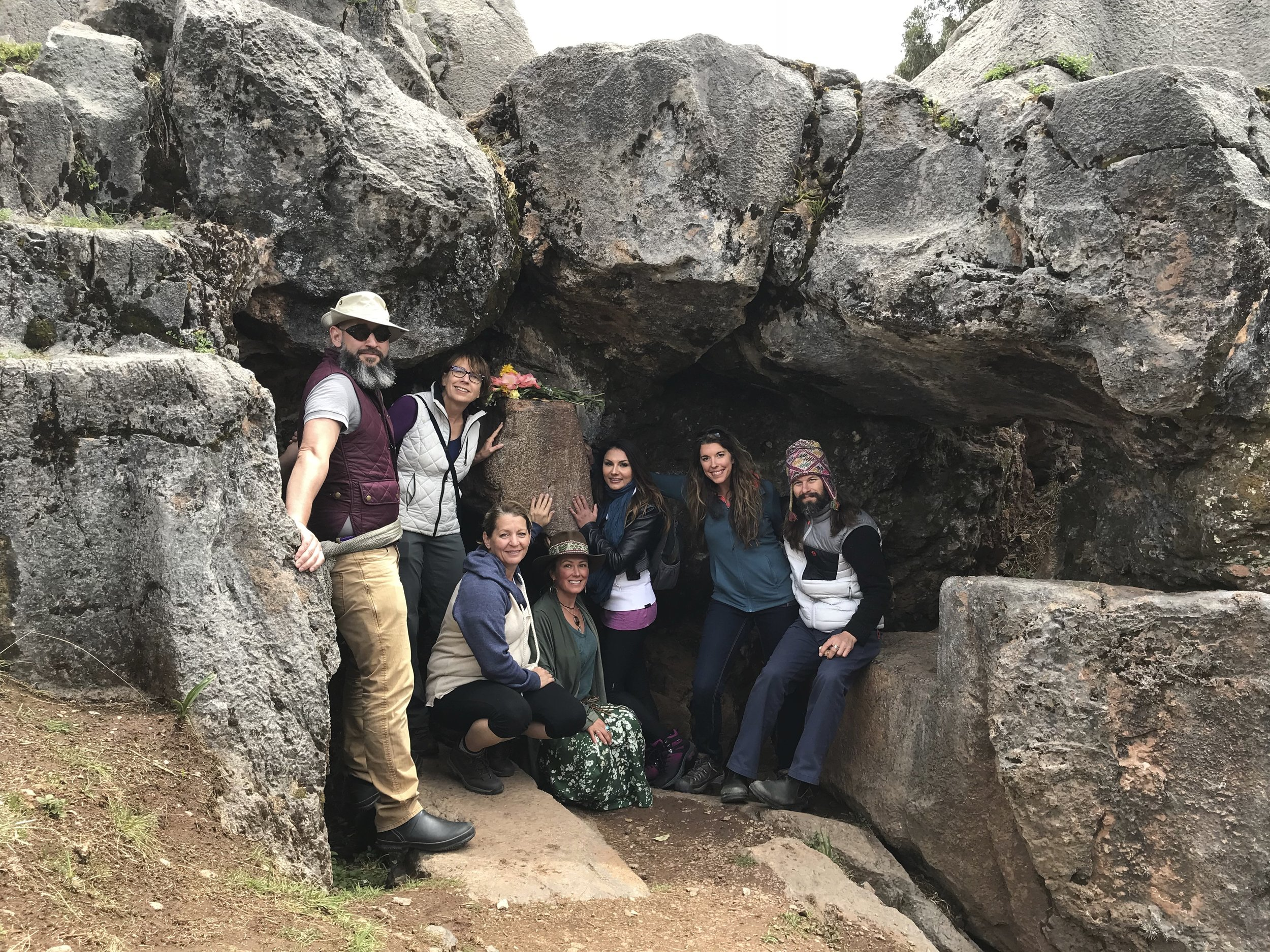 2017 Journey Participants, Temple of the Monkeys, Cusco Peru