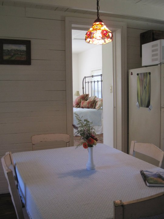 Looking from kitchen into the bedroom