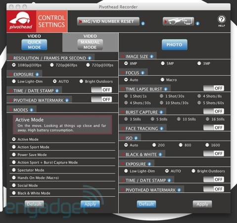 Software: Pivothead Recorder Manager
