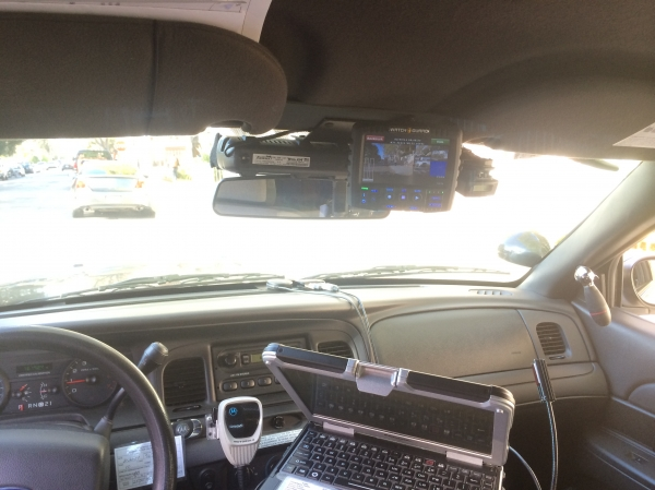 Palo Alto police cruisers are now equipped with new video systems, including five cameras instead of a previous two. Courtesy Palo Alto Police Department.