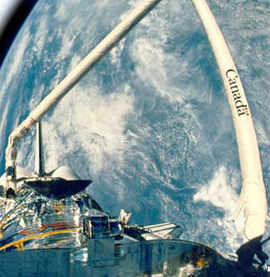 48. The Canadarm - used on the Space Shuttle.
