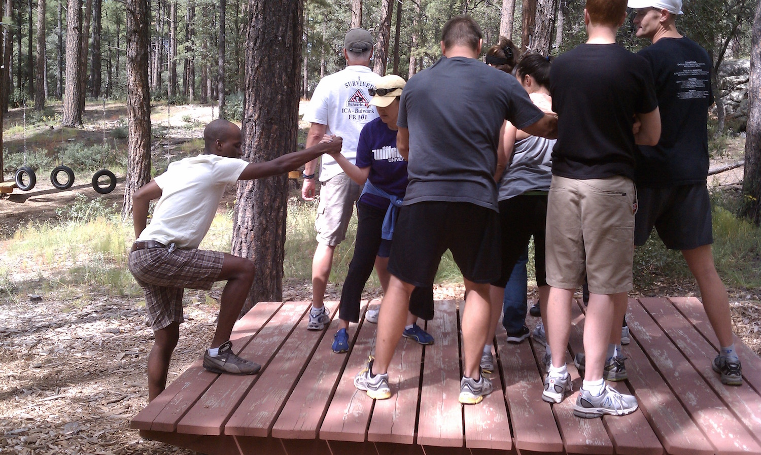 Cooperative High and Low Ropes Course team building Events for Corporate and Workplace Teams