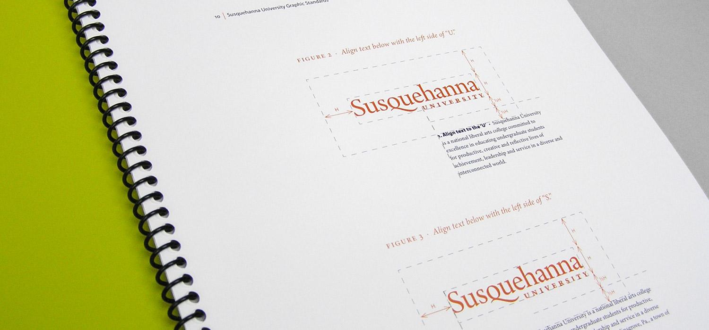 Susquehanna University wordmark and brand standards
