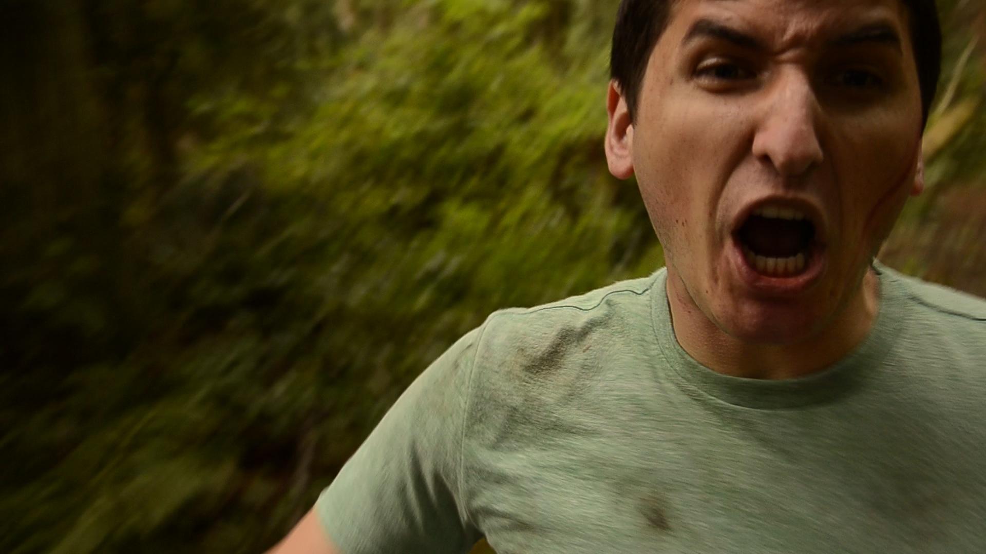 Steve runs for his life