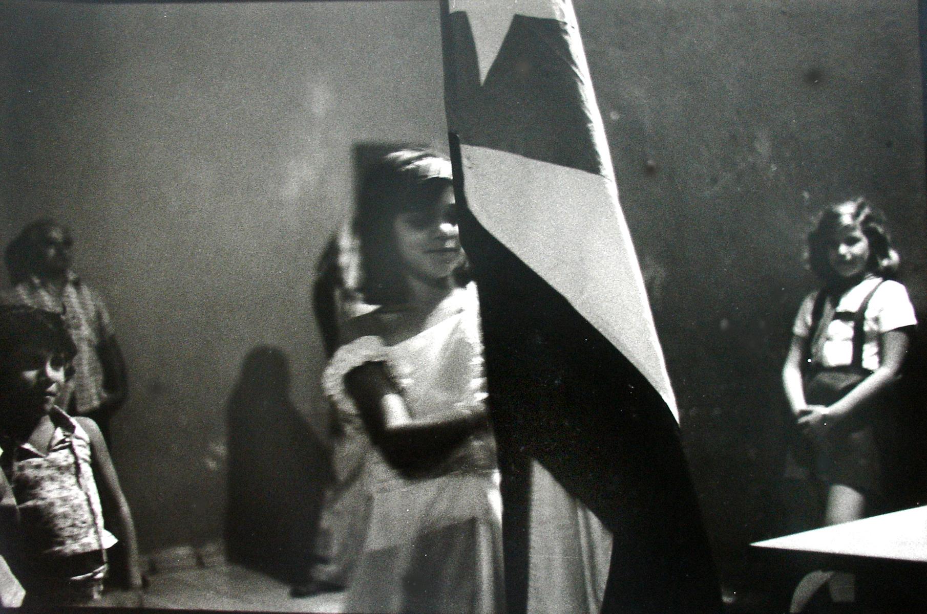 7 Girl with Cuban flag, Oriente, 1984.JPG