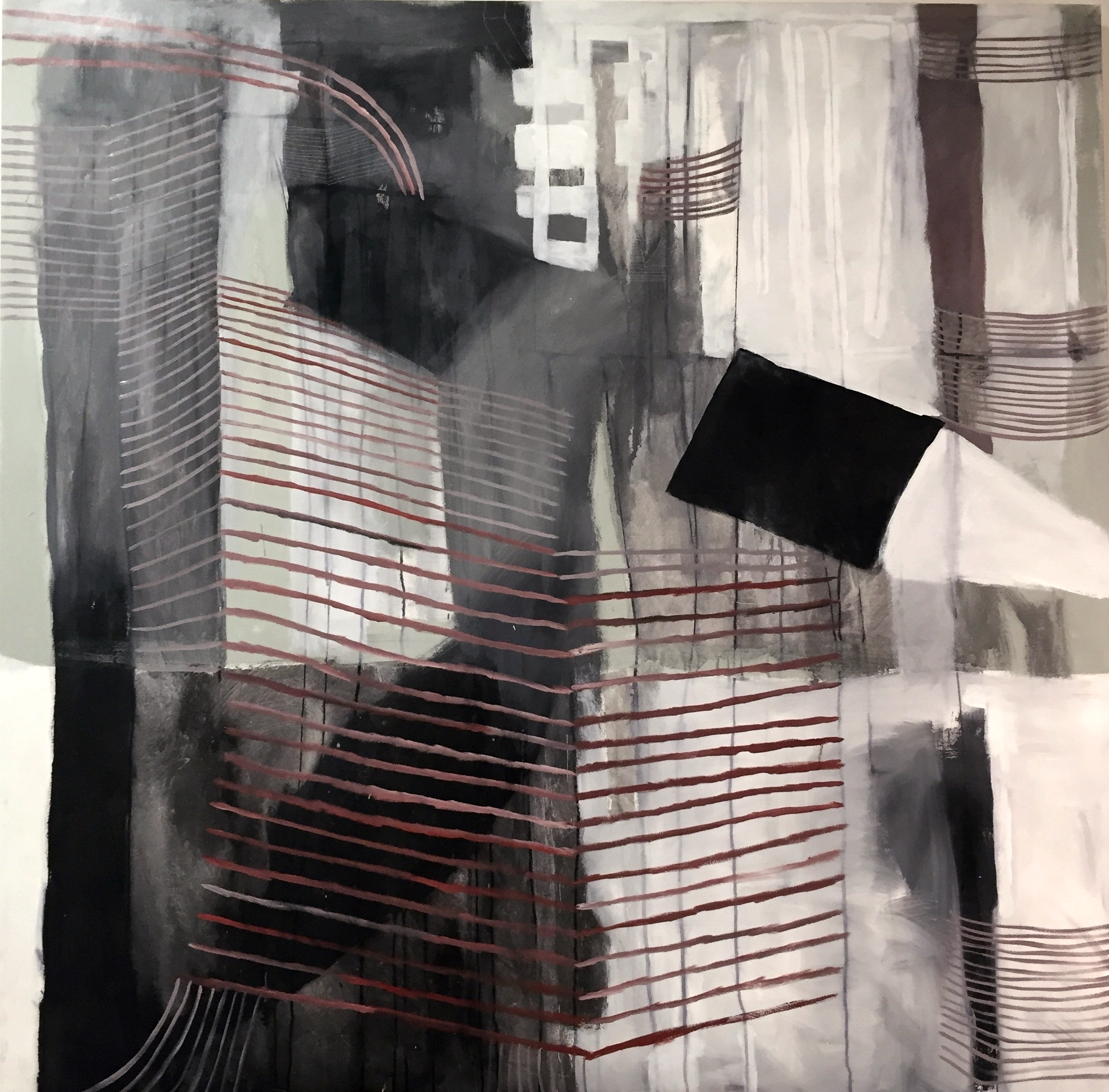 Sin Titulo. 2015 64 X 64 inches Graphite and Ink on canvas