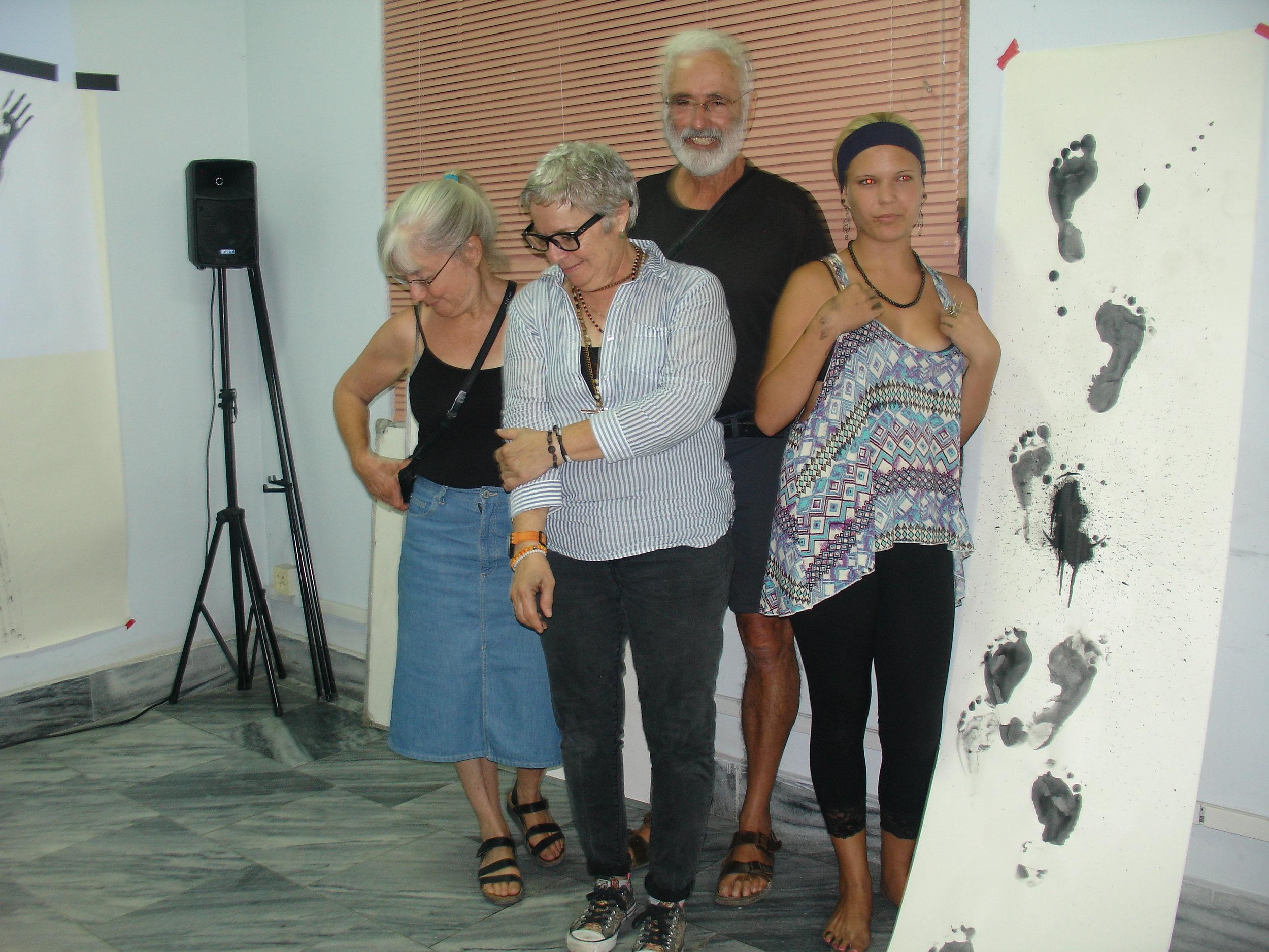 Nereida Garcia Ferraz y Colaboradores tecnicos, Roberto Campoamor y Halcyon Campoamor.JPG
