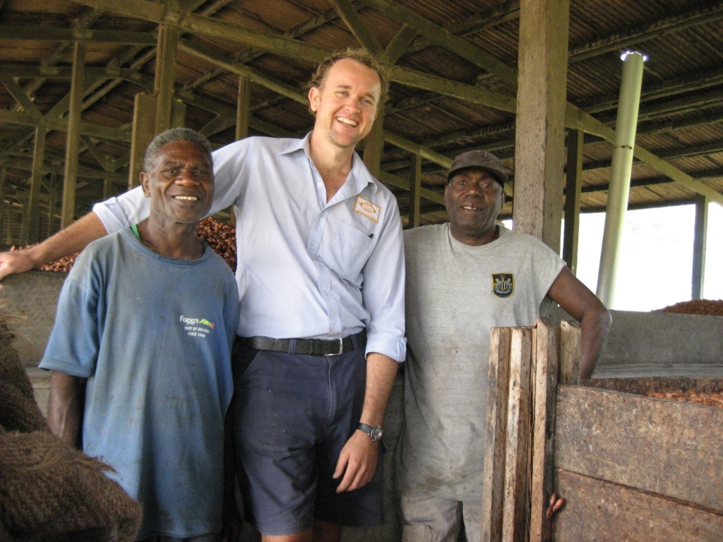 David, Luke and Saniel at the fermentary..