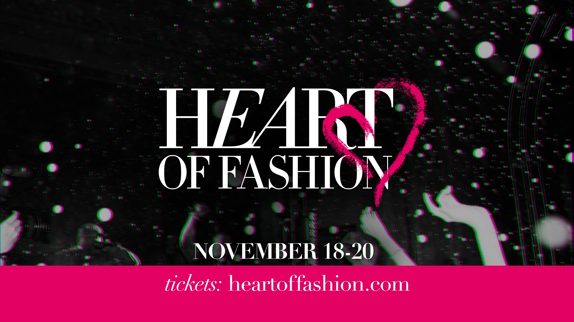 event advertisement video graphics | Heart of Fashion | jonberrydesign
