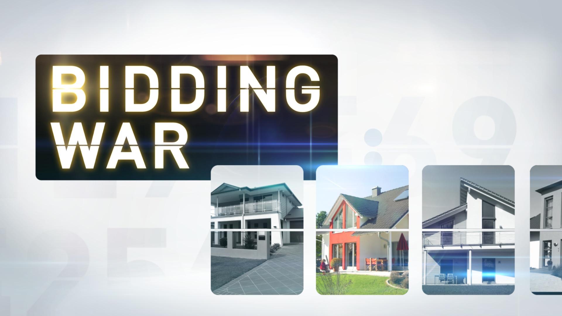 tv show main title design | Bidding War | jonberrydesign