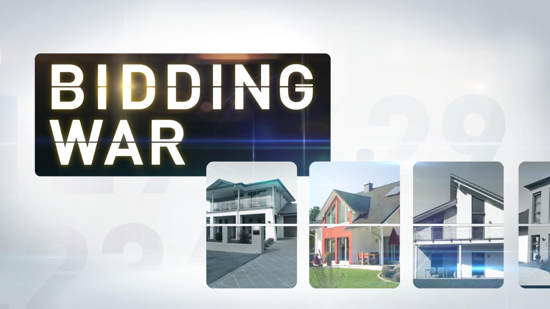 main title design for television | Bidding War | jonberrydesign