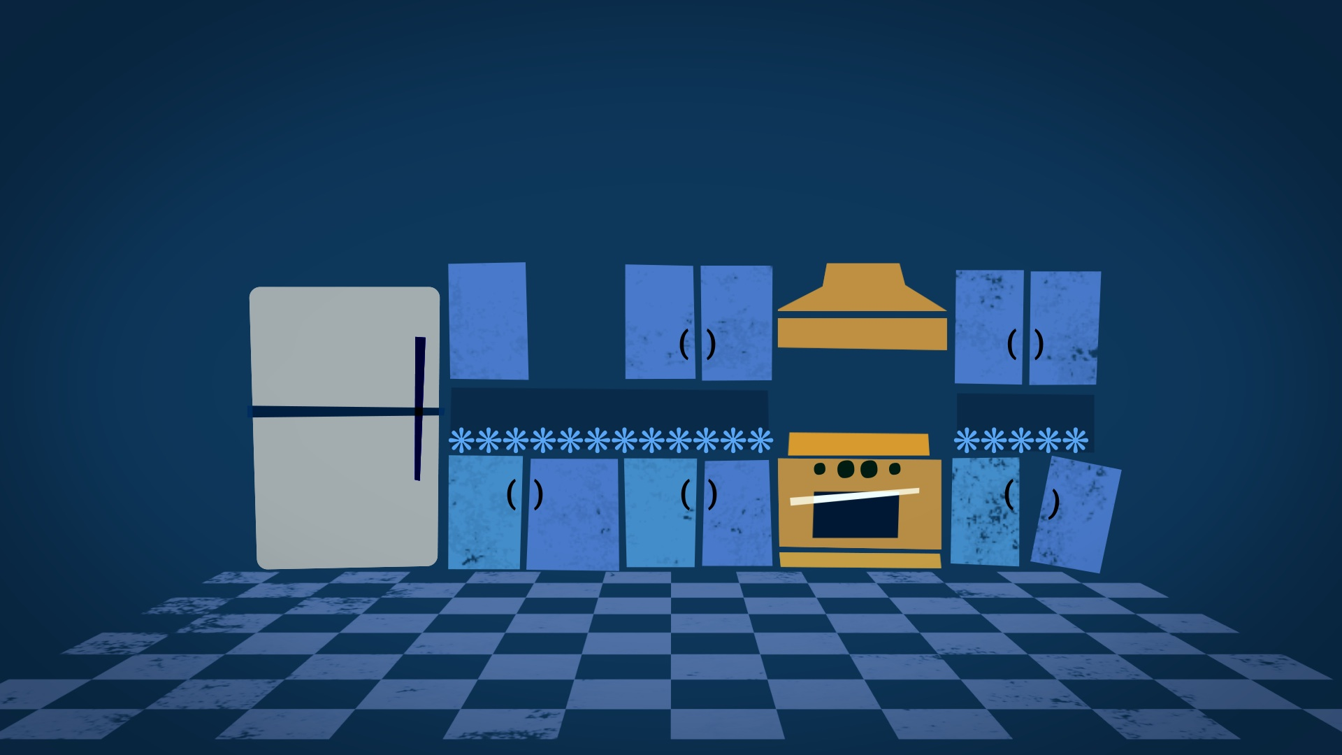 Fix This Kitchen titles by Los Angeles motion graphic design company jonberrydesign