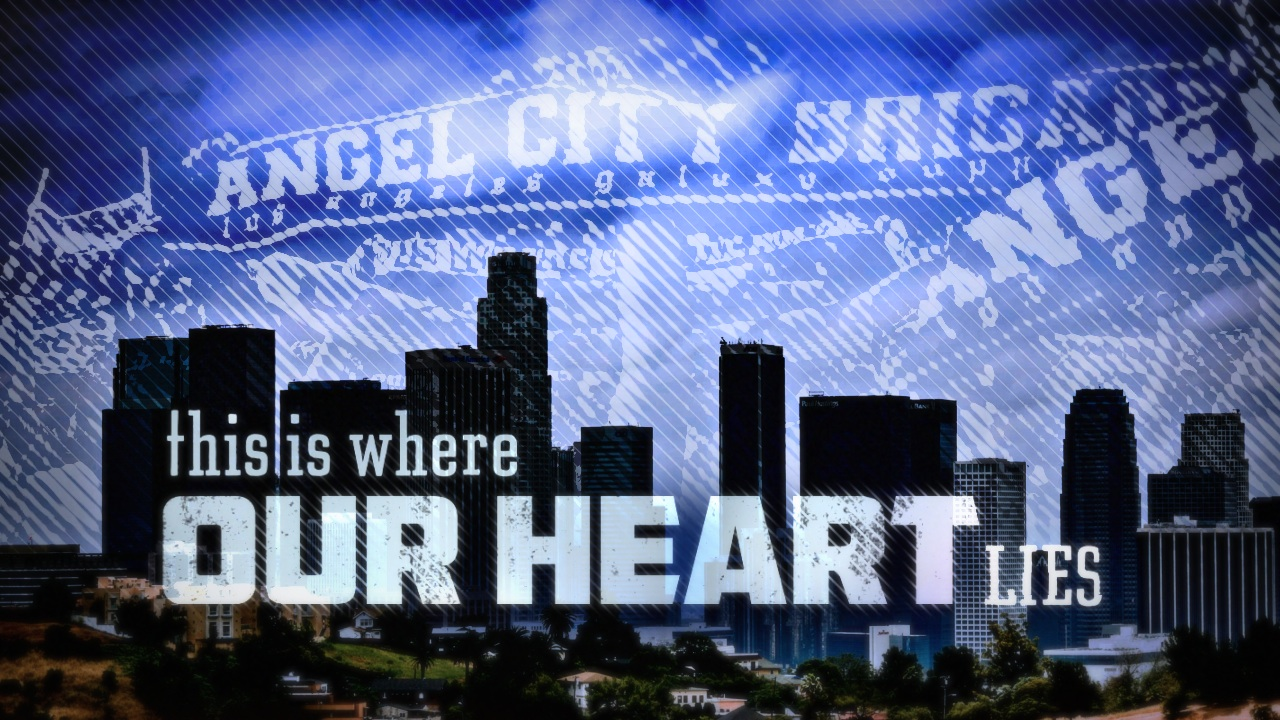 We Stand for Los Angeles | sports promo design | jonberrydesign