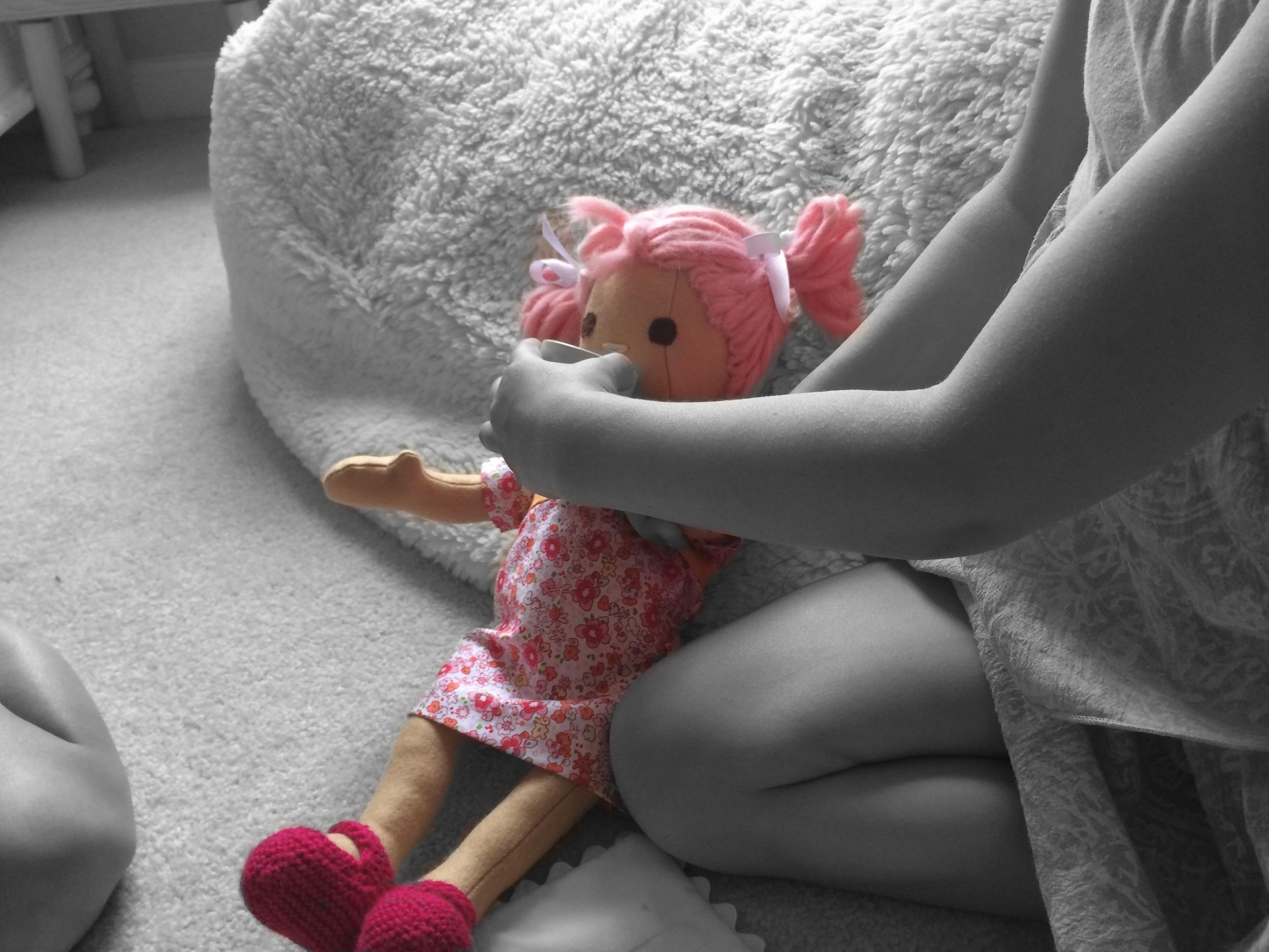 Handmade Doll tea party