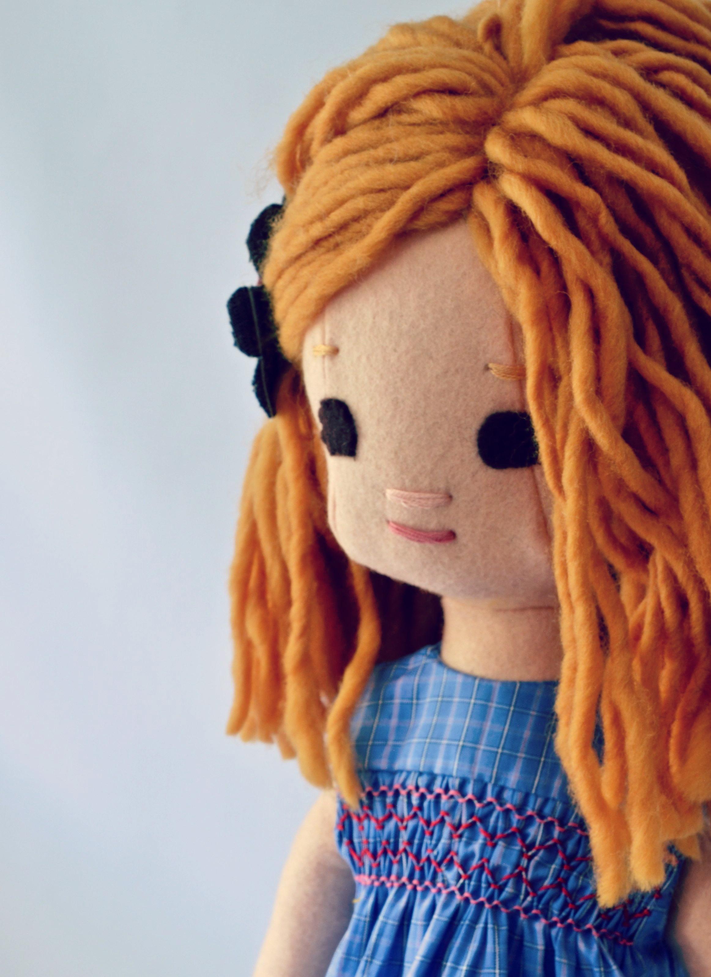 Handmade Rag Doll from Phoebe&Egg
