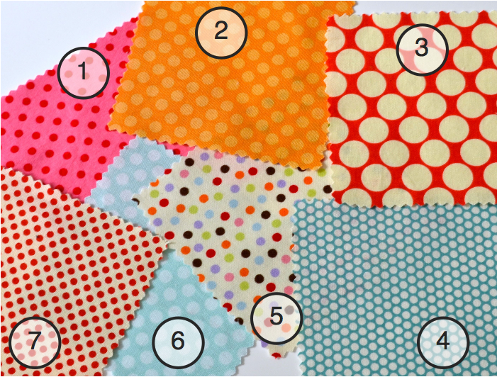 Colorful Dotted fabric