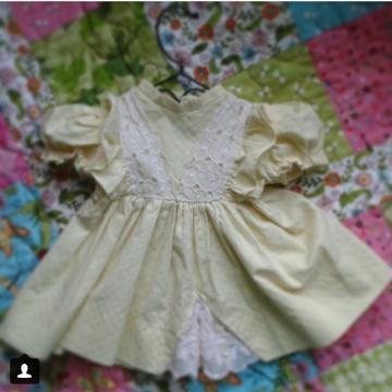 Handmade Doll Dress#2 (photo from Instagram)