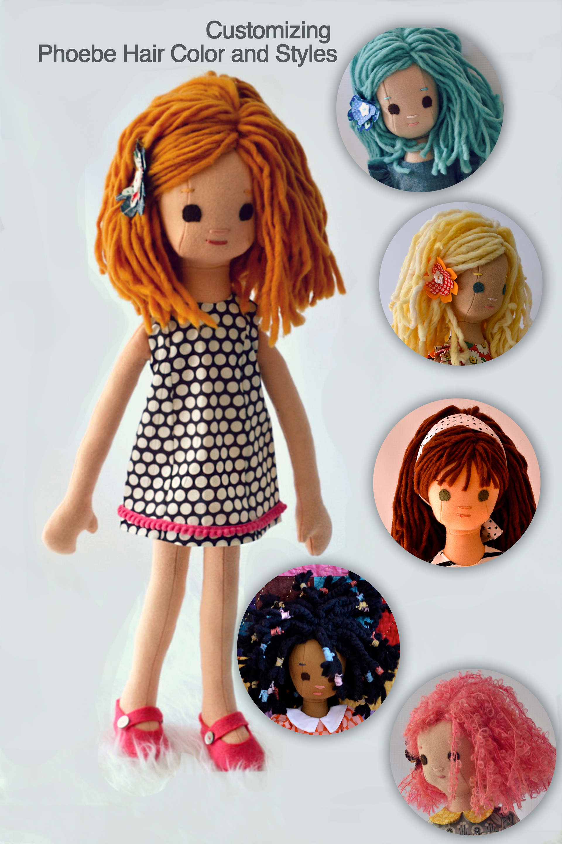 There are many ways to customize a Phoebe Doll