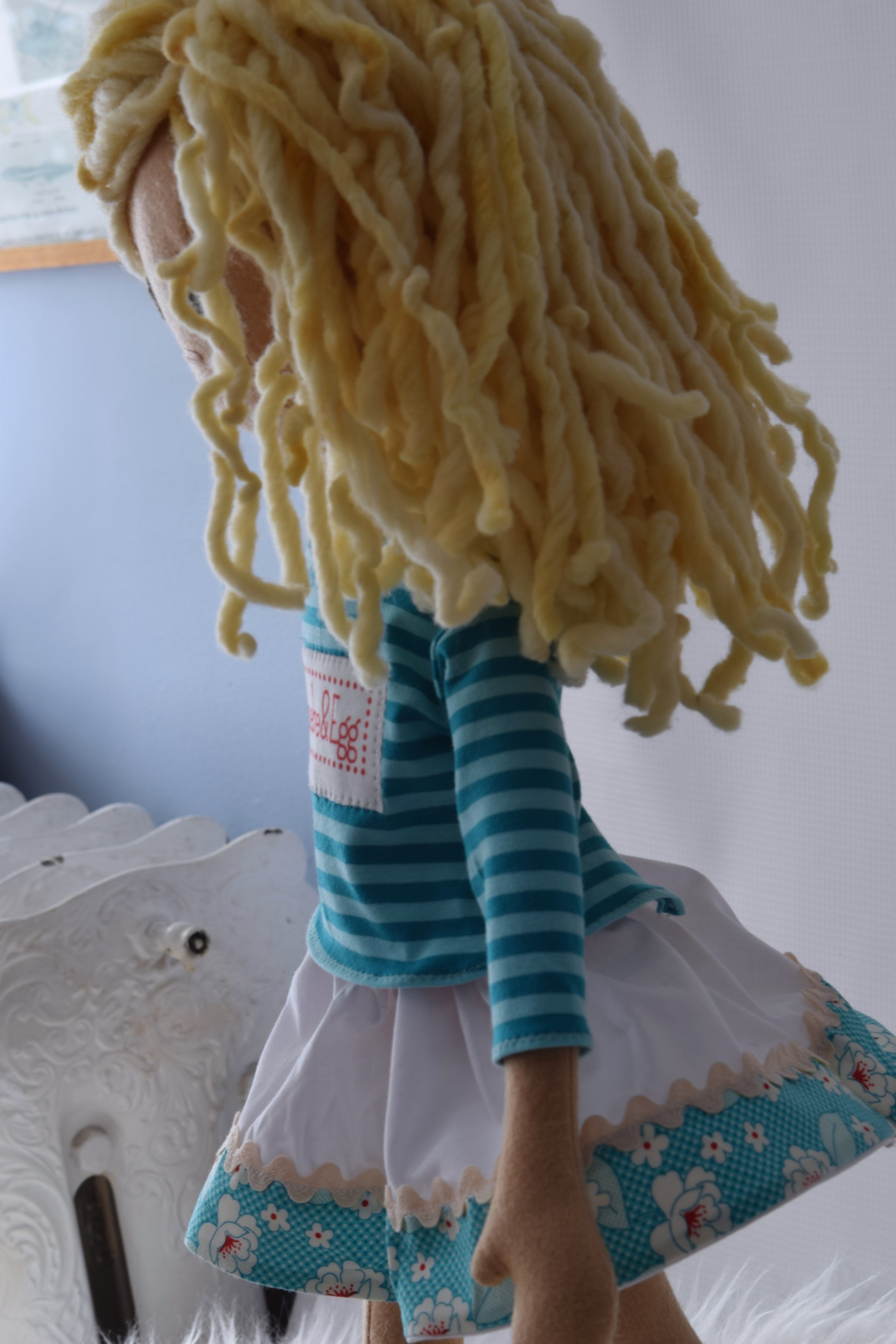 Handmade doll with play clothes