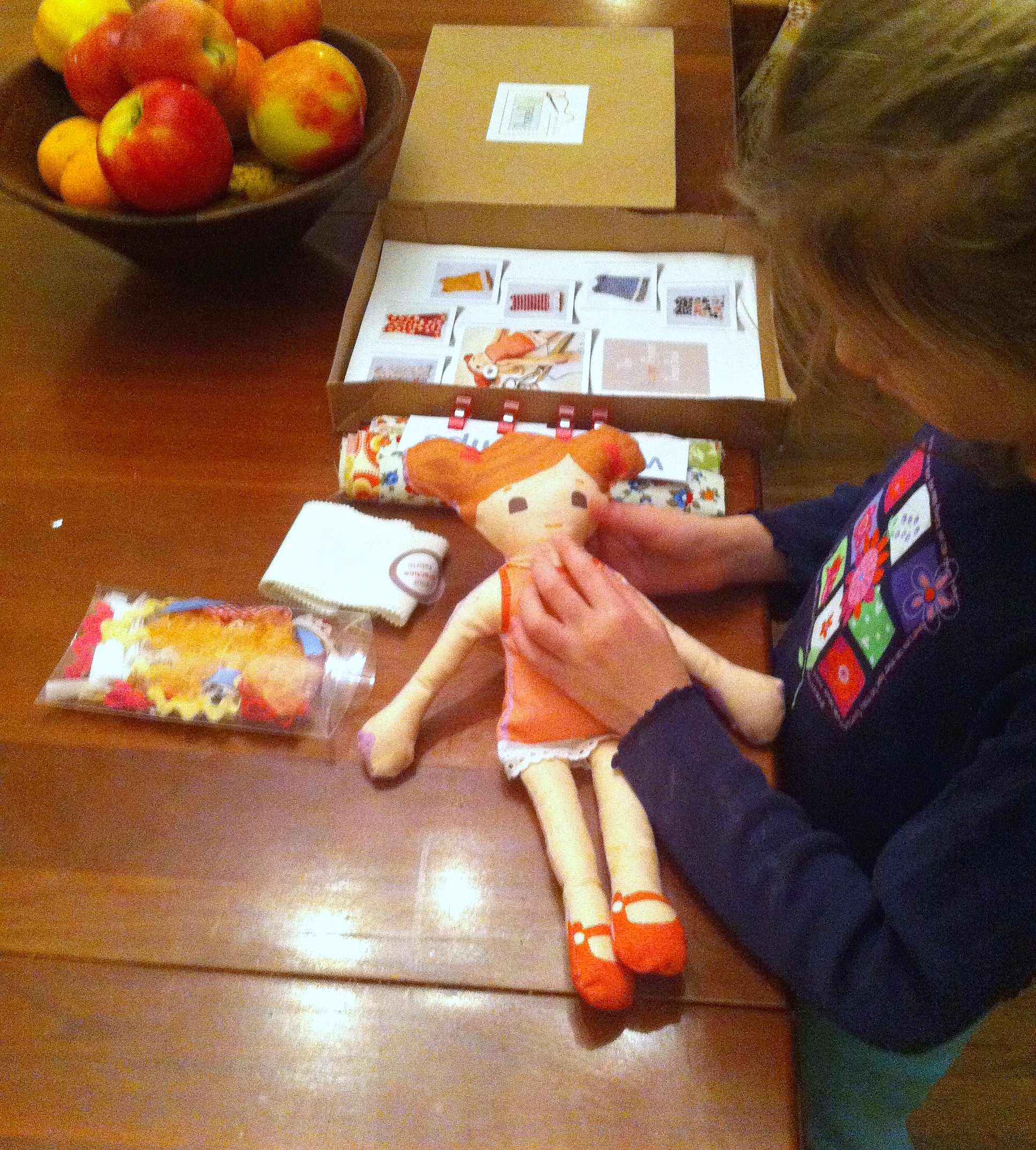 Opening the Learn to Sew kit