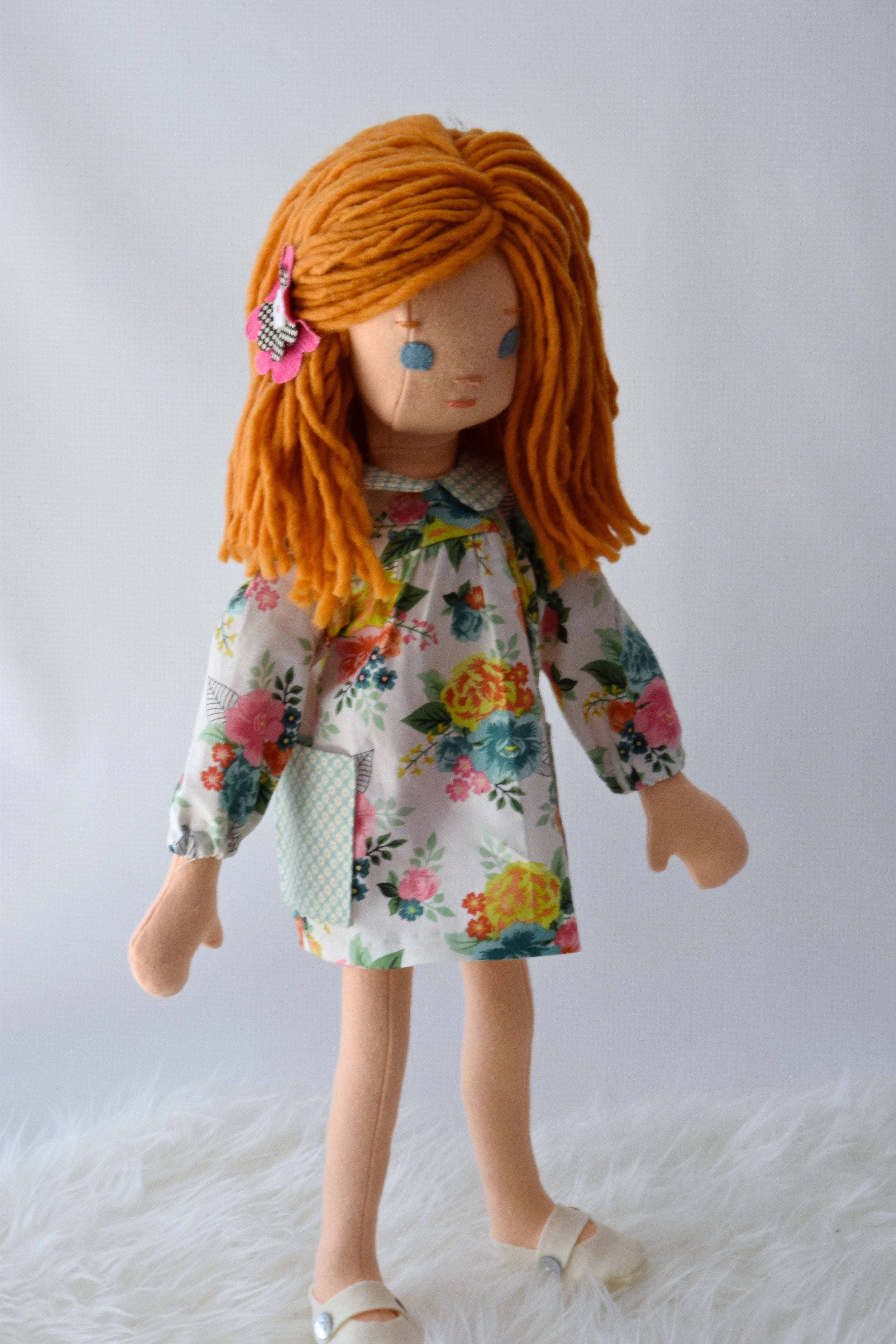 new handmade doll with spring dress